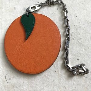 Authentic Hermès Orange Key/Bag Chain
